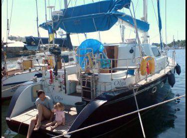 Вид на яхту Ольга сзади - Yachts.ua