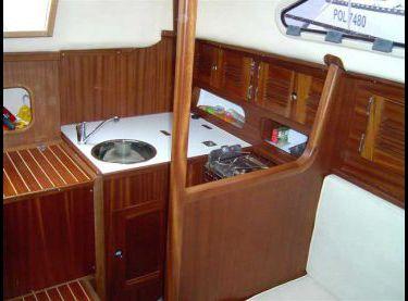 Камбуз на парусной яхте Картер 30 - Yachts.ua