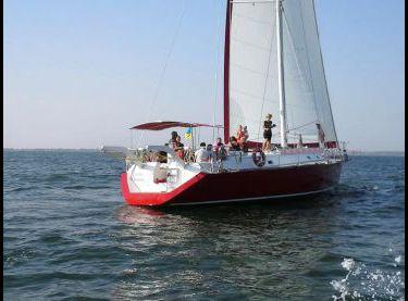 Вид сзади на парусную яхту Ольга 18 - Yachts.ua