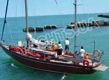 Двухмачтовая парусная яхта Конрад 45 на морской прогулке - Yachts.ua