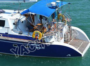Кокпит с тентом на парусной яхте Ольга - Yachts.ua