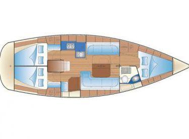 Схема внутренних помещений на яхте Бавария 38 - Yachts.ua