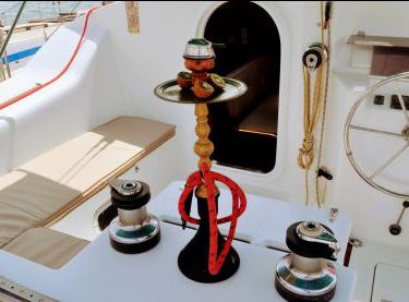 Кальян на яхте Контенто - Yachts.ua
