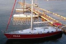 Парусная яхта Ольга 18 возле пристани - Yachts.ua