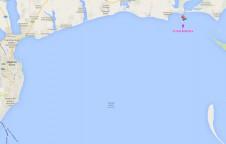 Расположение острова Березань в Черном море на карте - Yachts.ua