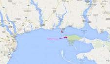 Расположение Кинбурнской косы на карте - Yachts.ua