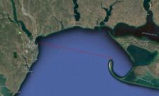 Расположение острова Тендра на карте - Yachts.ua
