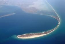 Вид на остров Тендра с высоты - Yachts.ua