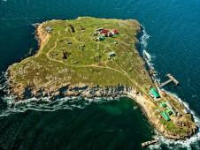 Вид на остров Змеиный с высоты - Yachts.ua