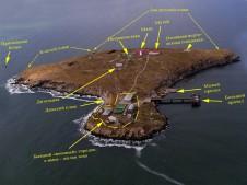 Схема обустройства острова Змеиный - Yachts.ua
