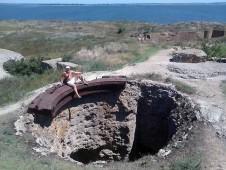 Отверстие от береговых орудий на острове Березань - Yachts.ua